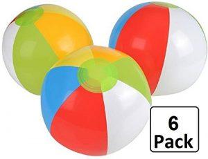6 Pack of Regular Beach Balls