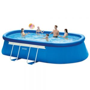 Intex Oval Frame Pool Set (18ft x 10ft x 42in)