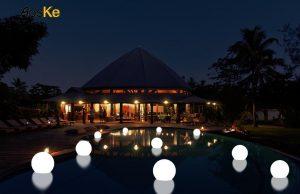 AosKe 9.5-Inch Floating Waterproof LED Pool Light Orb Balls