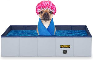 KOPEKS Outdoor Rectangular Swimming Pool Bathing Tub - Portable Foldable