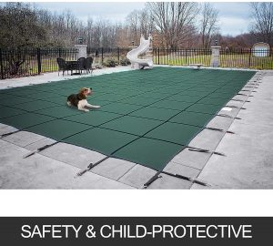 Happybuy Pool Safety Cover 18x36ft Rectangle Inground Safety Pool Cover