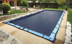 Blue Wave Bronze 20 x 40 ft In-Ground Winter Pool Cover