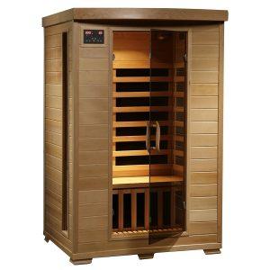 Radiant Saunas 2-Person Hemlock Deluxe Infrared Sauna