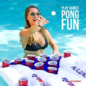 Inflatable Beer Pong Table with Built-in Cooler