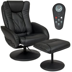 Best Choice Products Faux Leather Electric Massage Recliner Chair w/Stool Ottoman