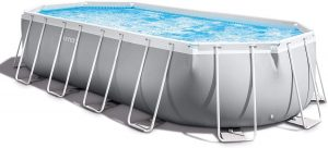 Intex - 20 Foot Prism Frame Oval Pool Set